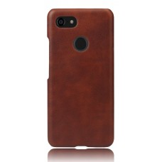 Чехол кожаный коричневый для Pixel 3