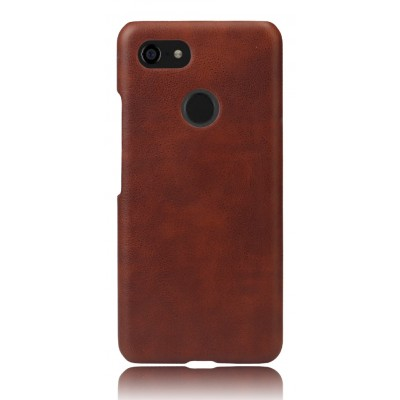 Кожаный коричневый чехол для Google Pixel 3