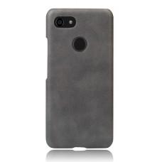 Чехол кожаный серый для Pixel 3