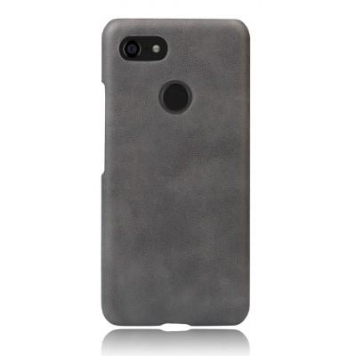 Кожаный серый чехол для Google Pixel 3