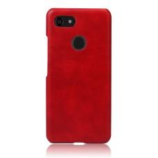 Чехол кожаный красный для Pixel 3