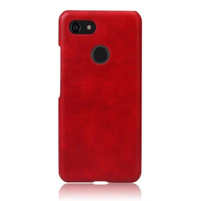 Кожаный красный чехол для Google Pixel 3